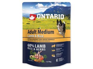 ONTARIO Adult Medium Lamb & Rice (0,75kg)