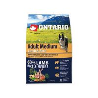 ONTARIO Adult Medium Lamb & Rice (2,25kg)