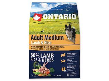 ONTARIO Adult Medium Lamb & Rice (2,25kg)