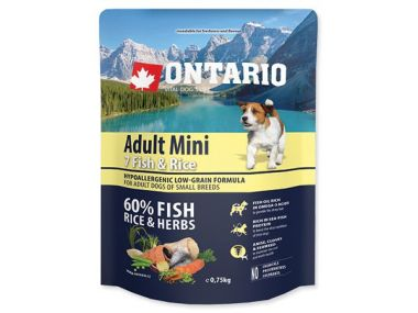 ONTARIO Adult Mini Fish & Rice (0,75kg)
