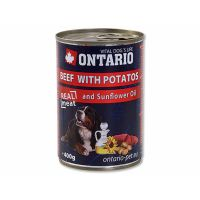 ONTARIO konzerva Beef, Potatos, Sunflower Oil (400g)