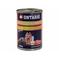 ONTARIO konzerva Chicken, Carrots, Salmon Oil (400g)
