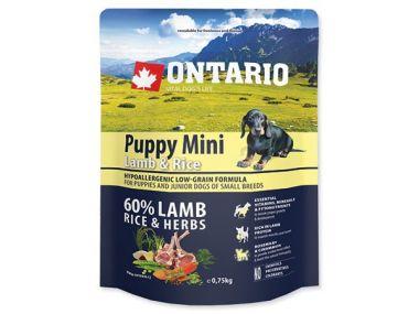 ONTARIO Puppy Mini Lamb & Rice (0,75kg)