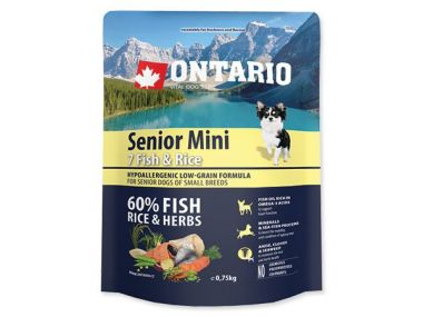 ONTARIO Senior Mini Fish & Rice (0,75kg)
