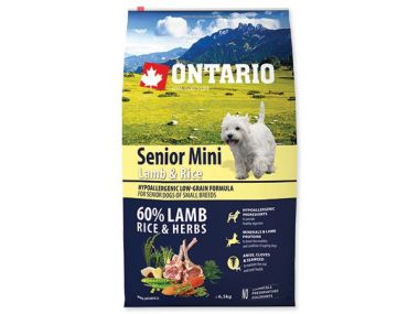 ONTARIO Senior Mini Lamb & Rice (6,5kg)
