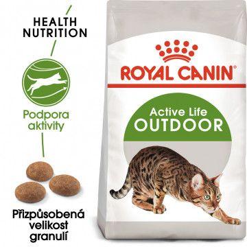 Royal Canin Outdoor granule pro kočky s častým pohybem venku 0,4kg