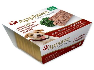 Paštika APPLAWS Dog Pate with Chicken & vegetables 150 g ()