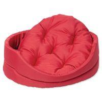 Pelech DOG FANTASY ovál s polštářem červený 91 cm