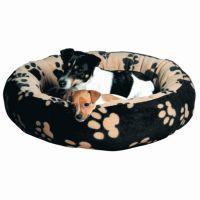 Pelíšek kulatý SAMMY černo-béžový 50cm