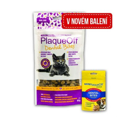 PlaqueOff Dental Bites Cat 60g