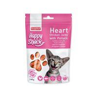 Pochoutka BEAPHAR Happy Snack Cat srdíčka z kuřecího masa a tresky (40g)
