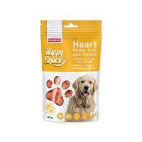 Pochoutka BEAPHAR Happy Snack Dog srdíčka z kuřecího masa a tresky (60g)