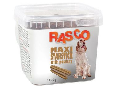 Pochoutka RASCO hvězda natural s drůbeží (800g)