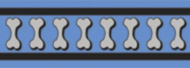 Postroj RD 25 mm x 56-80 cm - Bones Rfx- Stř.Modrá