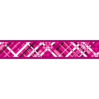 Postroj RD 25 mm x 56-80 cm - Flanno Hot Pink