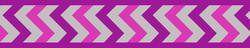 Postroj RD 25 mm x 56-80 cm - Ziggy Rfx - Fialová