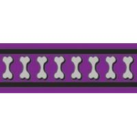 Postroj RD 25 mm x 71-113 cm - Bones Rfx- Fialová