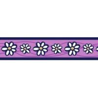 Postroj RD 25 mm x 71-113 cm - Daisy Chain Purple