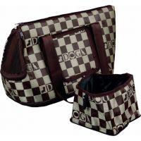 Přepravní taška CHESS 21 x 25 x 45 hnědo/béžová