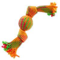 Přetahovadlo DOG FANTASY barevné míč 2 knoty 40 cm (1ks)