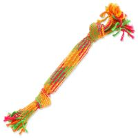 Přetahovadlo DOG FANTASY barevné se zvukem 2 knoty 40 cm (1ks)