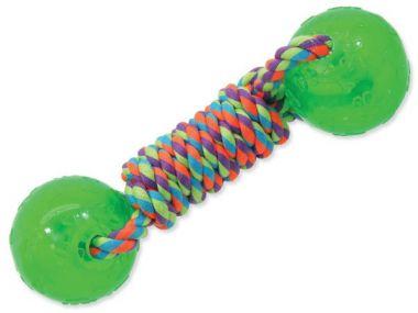 Přetahovadlo DOG FANTASY činka gumová zelená 24 cm (1ks)