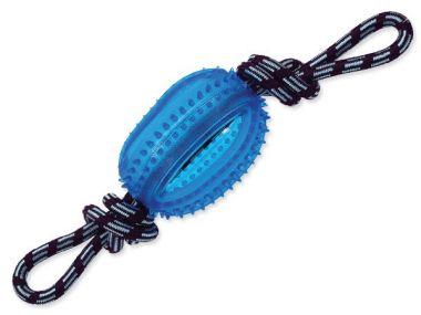 Přetahovadlo DOG FANTASY lano s míčem modré 45 cm (1ks)