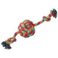 Přetahovadlo DOG FANTASY míč + 2 knoty (1ks)