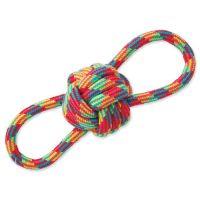 Přetahovadlo DOG FANTASY osmička barevné bavlna + uzel (1ks)
