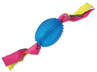 Přetahovadlo DOG FANTASY ovál gumové s látkou modré 48 cm (1ks)