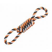 Přetahovadlo HipHop bavlněná osmice, šedá, tm.šedá, oranžová 30cm
