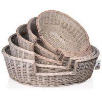 Proutěný košík ovál Provence, 80x70x22cm - DUO vel. 5
