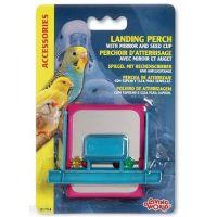 Ptačí hračka zrcátko + počítadlo + krmítko