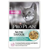 Purina Pro Plan CAT DELICATE Mořské ryby kapsička 85 g