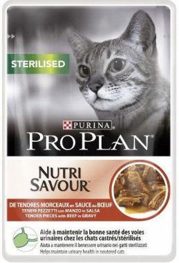 Purina Pro Plan CAT STERILISED Hovězí kapsička 85 g