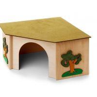 Rohový domek pro králíky