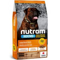 S8 Nutram Sound Adult Dog Large Breed - pro dospělé psy velkých plemen 11,4kg