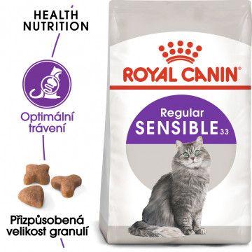Royal Canin Sensible granule pro kočky s citlivým zažíváním 2kg