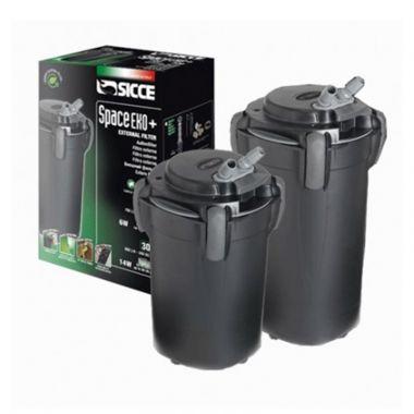 SICCE Vnější filtr Space EKO+ 300, 900 l/h, pro akvária o objemu 200-300 l, s filtračními náplněmi