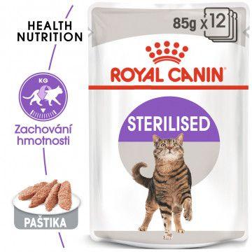 Royal Canin Sterilised Loaf kapsička s paštikou pro kastrované kočky 12x