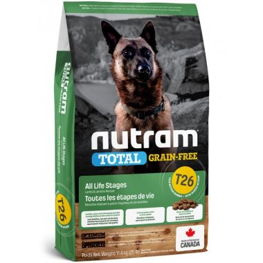 T26 Nutram Total Grain-Free Lamb & Legumes, Dog - bezobilné krmivo, jehněčí a luštěniny, pro psy 11,4kg