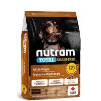 T27 Nutram Total Grain Free Turkey Chicken Duck Dog - bezobilné krmivo, krůta, kuře a kachna, pro psy malých plemen 5,4kg