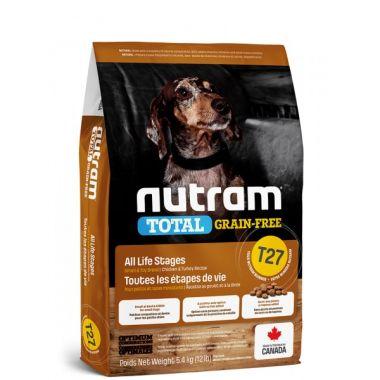 T27 Nutram Total Grain Free Turkey Chicken Duck Dog - bezobilné krmivo, krůta, kuře a kachna, pro psy malých plemen 2kg