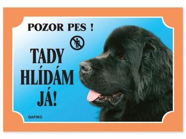 Tabulka novofoundlandský pes černý