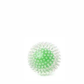 TPR míč s bodlinami zelený, odolná (gumová) hračka z termoplastické pryže
