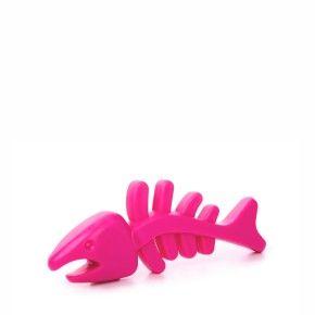 TPR - Růžová rybí kost, odolná (gumová) hračka z termoplastické pryže