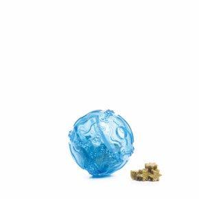 TPR – Snack ball modrý, odolná (gumová) hračka z termoplastické pryže
