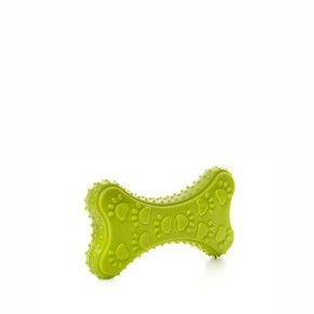 TPR - Zelená kost, odolná (gumová) hračka z termoplastické pryže