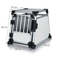 Transportní klec - hliníkový rám, pevné panely 55x62x78 cm