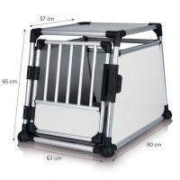 Transportní klec - hliníkový rám, pevné panely 63x65x90 cm